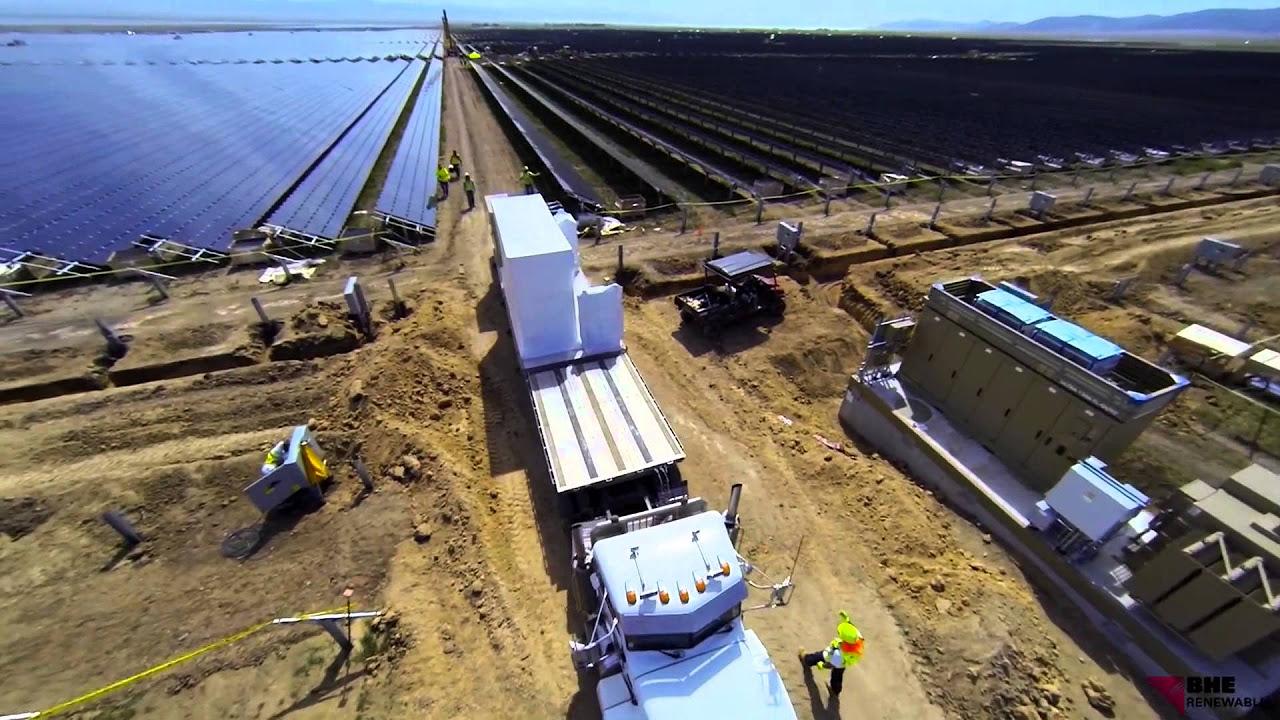 Topaz Solar Farms Construction Video