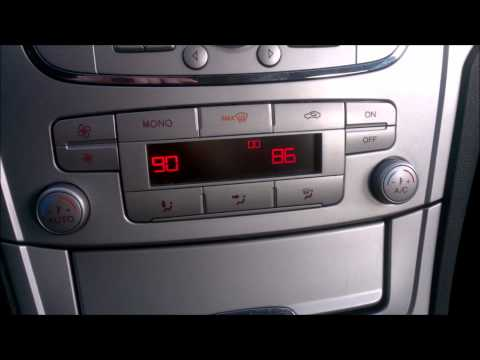 ✔ Ford Mondeo MK4 - how to enter Climatronic diagnostic self-test, view and clean error codes  ✔