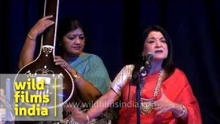 Renowned Indian music vocalist Vidushi Rita Ganguly in Delhi