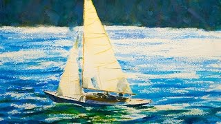 Watercolor Painting Tutorial, Sailboat