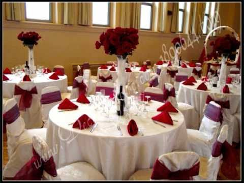 D coration de tables et de salles de r ception decorlagloire 1800 youtube for Decoration table salle a manger