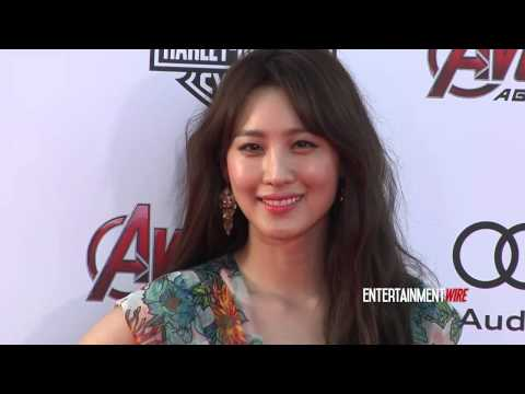Claudia Kim has a Marilyn Monroe moment at Marvel's 'Avengers: Age Of Ultron' Los Angeles Premiere