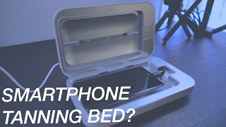 This mini tanning bed cleans your disgusting smartphone