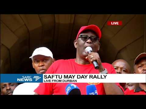 Zwelinzima Vavi at the SAFTU May Day rally in Durban
