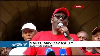 Zwelinzima Vavi at the SAFTU May Day rally in Durban