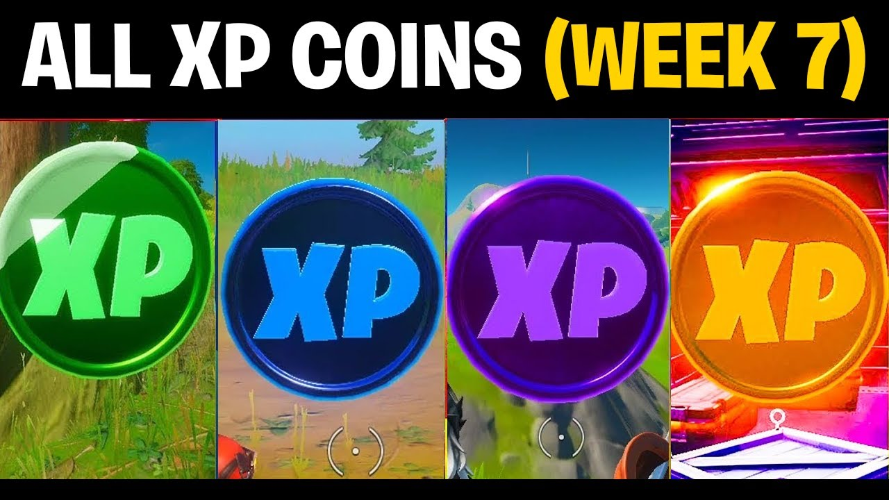 Download All XP COINS Locations (WEEK 7) in SEASON 4 Chapter 2 Fortnite Challenge