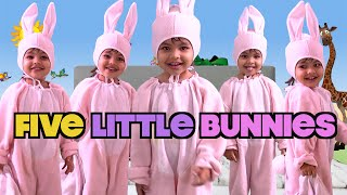 Five Little Bunnies Jumping on the Bed - Nursery Rhymes, Kids Songs, Children Song