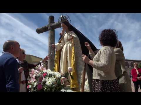 EL ENCUENTRO Procesion del domingo Llamas de la Ribera 2017