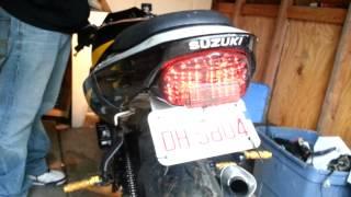 2002 suzuki gsx r 600 led tail light with intergrated turn signals