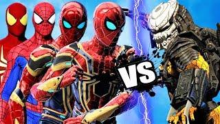 TEAM SPIDER-MAN vs PREDATOR ARMY - EPIC BATTLE