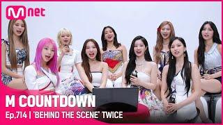 [ENG] ['BEHIND THE SCENE' TWICE] KPOP TV Show |  #엠카운트다운 EP.714 | Mnet 210617 방송