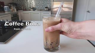 How to Make A Coffee Boba Smoothie [ASMR]