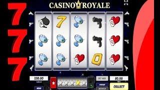 CASINO ROYALE en jeu de machine à sous en ligne. Devalisé !!!