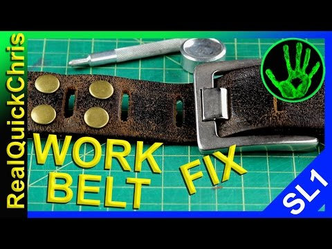 Cant Kill Year Old Leather Work Belt Yet Fixing Work Belt