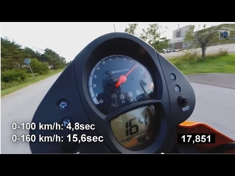 Kawasaki ER6 2007 | 0-160km/h, acceleration, Akrapovic exhaust