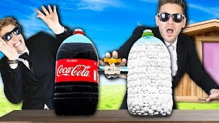 Coke and Mentos Experiment to Win Tiny Safe House! (GMI vs. Game Master Network)