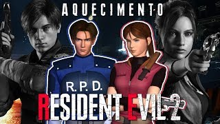 🔴 AQUECIMENTO RESIDENT EVIL 2 REMAKE: LEON A e CLAIRE B até zerar!
