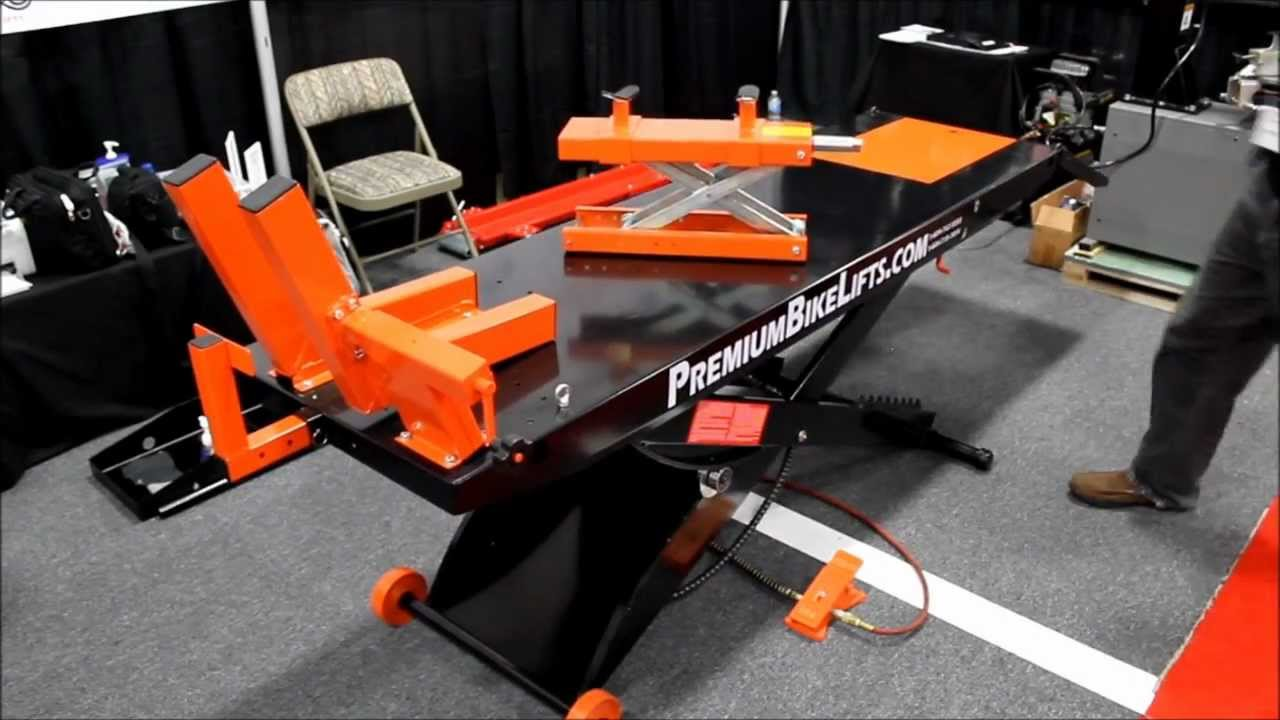 Air Motorcycle Lift Table : Air operated motorcycle lifts by premiumbikelifts