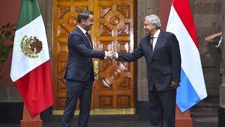 Presidente recibe a primer ministro de Luxemburgo en Palacio Nacional