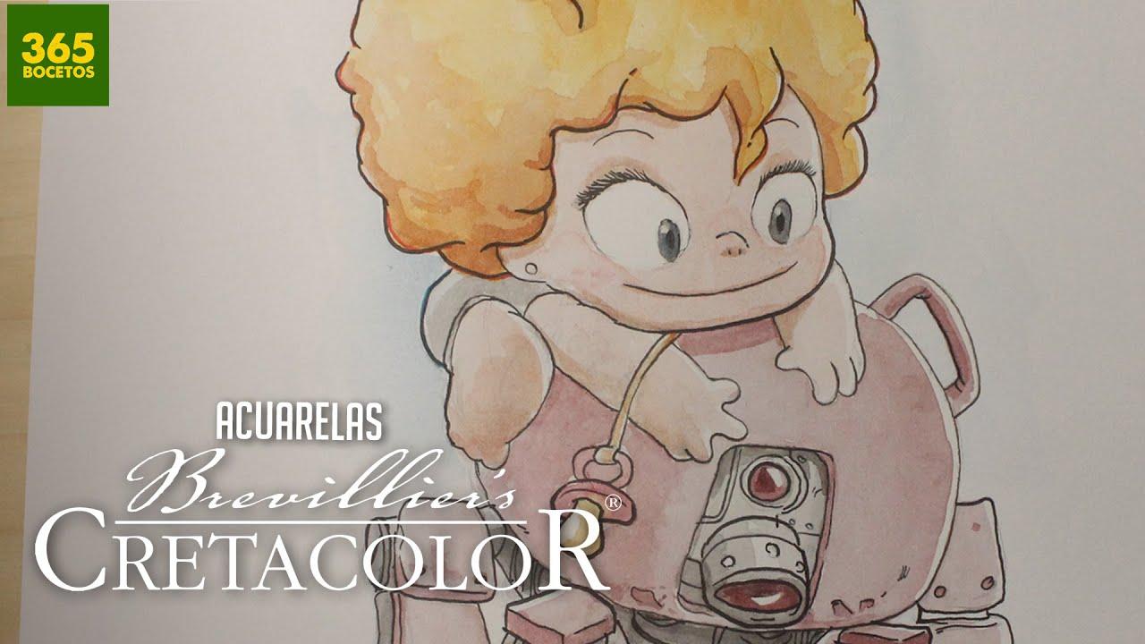 APRENDER A COLOREAR CON ACUARELAS CRETACOLOR: Como dibujar ...