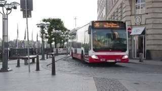HOCHBAHN-Busse zwischen Reesendamm und Rathausmarkt im Juni 2018