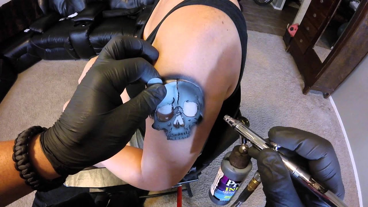 Girl crush airbrush tattoo — pic 5