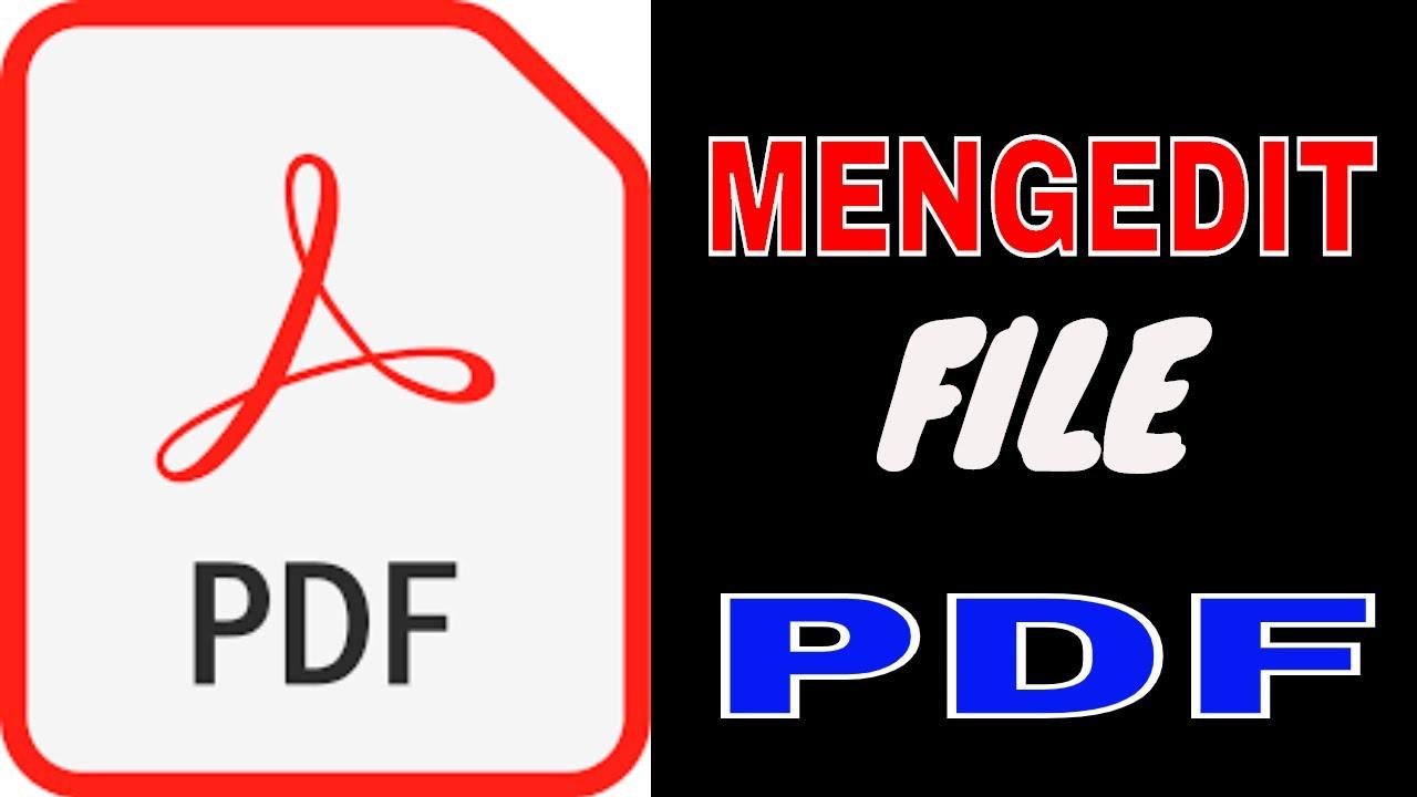 Cara Edit File PDF - YouTube