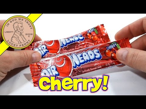 Air Heads Cherry - USA Candy Tasting YouTube Toy Video Revie