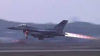 F-16 & A-10 Takeoff at Osan Air Base (2013)