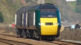 Trains Along The Teignmouth Sea Wall 18/10/18