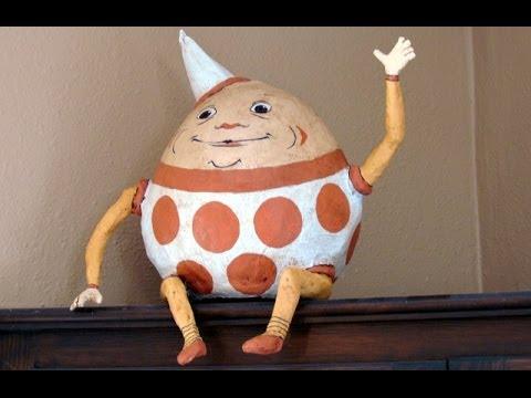 Paper Mache Egg - Humpty Dumpty