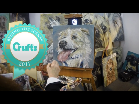 Timelapse PAWtrait of Olly the Jack Russell Terrier | Crufts 2017