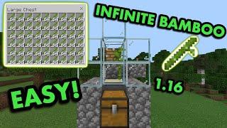 SIMPLE 1.16 ZERO-TICK BAMBOO FARM TUTORIAL in Minecraft Bedrock (MCPE/Xbox/PS4/Switch/Windows10)