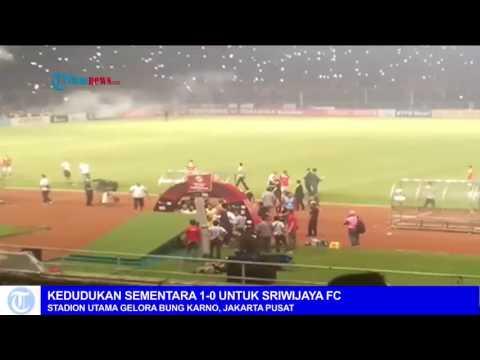 The Jakmania Rusuh, Pertandingan Persija Jakarta vs Sriwijaya FC Dihentikan
