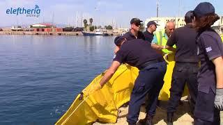 Ασκηση αντιμετώπισης φωτιάς σε σκάφος από το Λιμεναρχείο Καλαμάτας