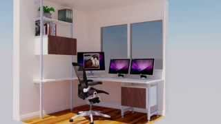 Your Home Office With Windows Desk Design