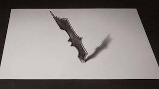 Как нарисовать 3D Рисунок Сюрикен  Бэтмена(Смотрите урок , как просто нарисовать 3D Рисунок Сюрикен Бэтмена . Иллюзия которую сможет повторить каждый..., 2016-12-02T07:00:01.000Z)