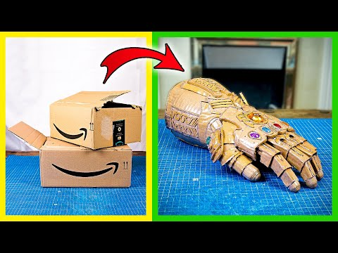 How to make Infinity Gauntlet with cardboard