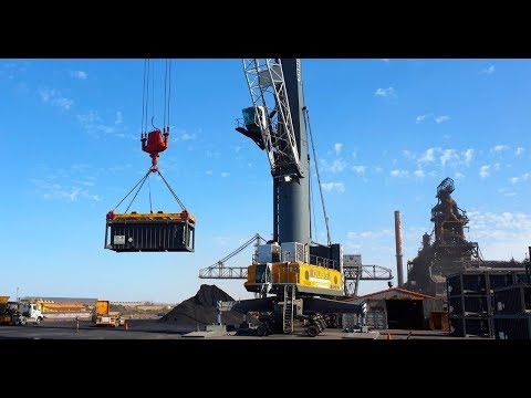 SIMEC Whyalla Port's State-of-the-Art Mobile Harbour Crane