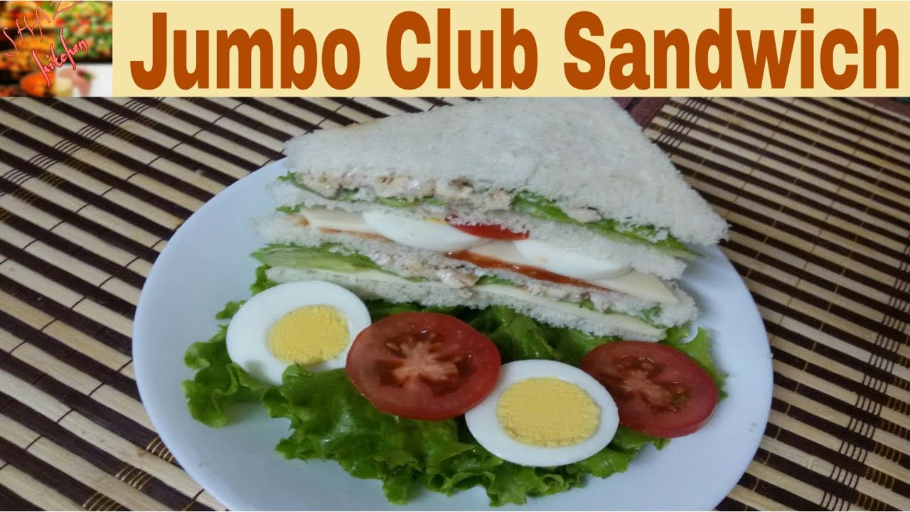 Jumbo Club Sandwich Recipe In Urdu Hindi How To Make Restaurant Style Club Sandwich At Home