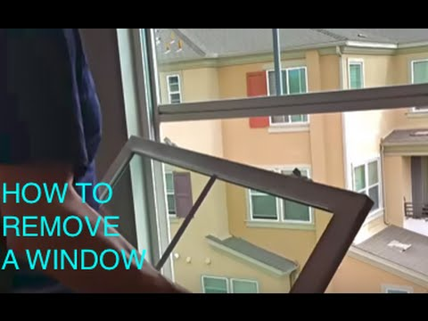HOW TO REMOVE WINDOWS- Make 3-4 story windows easy to clean