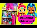 Shimmer & Shine DOLLHOUSE Makeover Nickelodeon Dolls Bath & Bedroom Dress Up Kayla KidKraft House