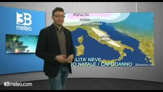 Meteo Italia, la probabilita di neve tra Natale e Capodanno