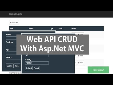 Web API CRUD Operations Using Asp Net MVC and Entity Framework