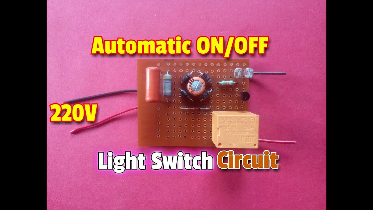 How To Make Transformer Less Automatic On Off Light Switch Circuit Electronic Timer Circuitsimple