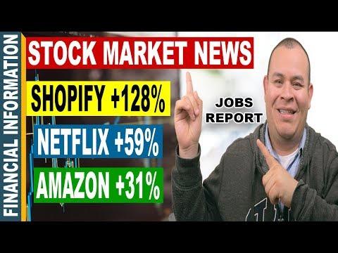 Shopify, Netflix, Amazon, Job Reports, Financial Stocks | October Stock Market News | Stocks Oct 2-6