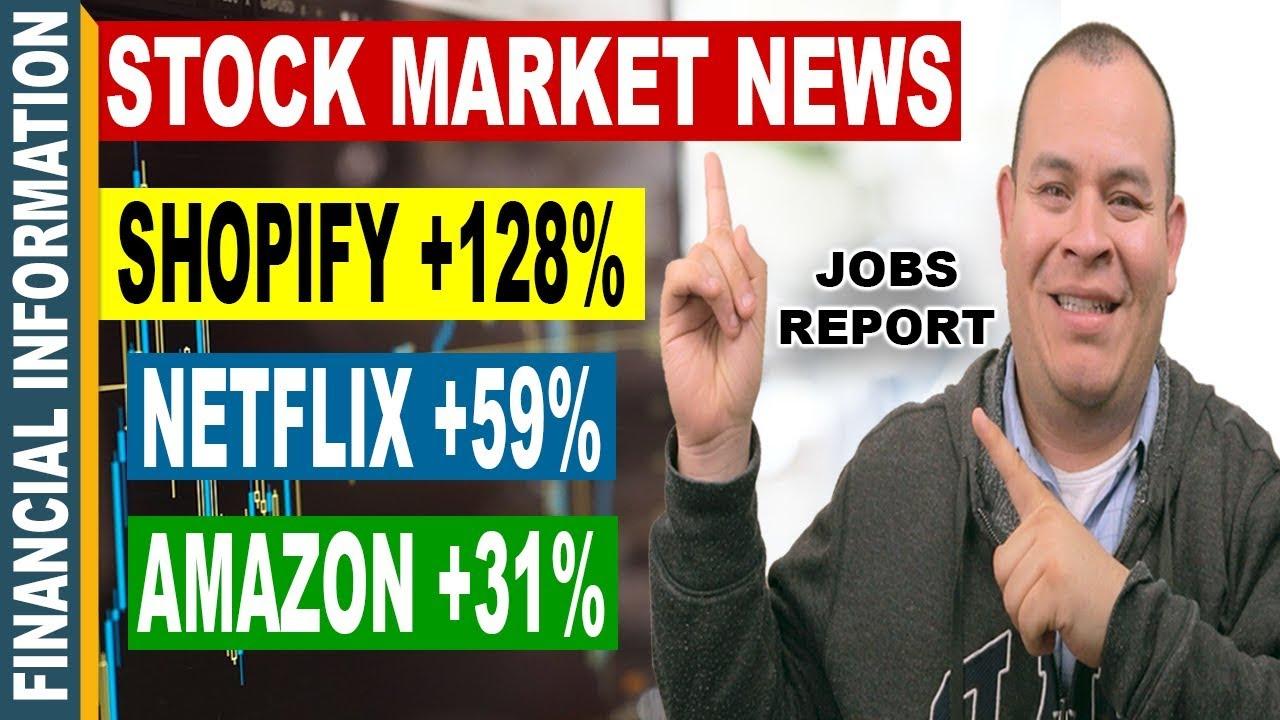 shopify  netflix  amazon  job reports  financial stocks