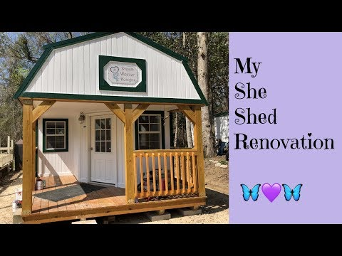 My Graceland Portable Building She Shed Studio Transformation!