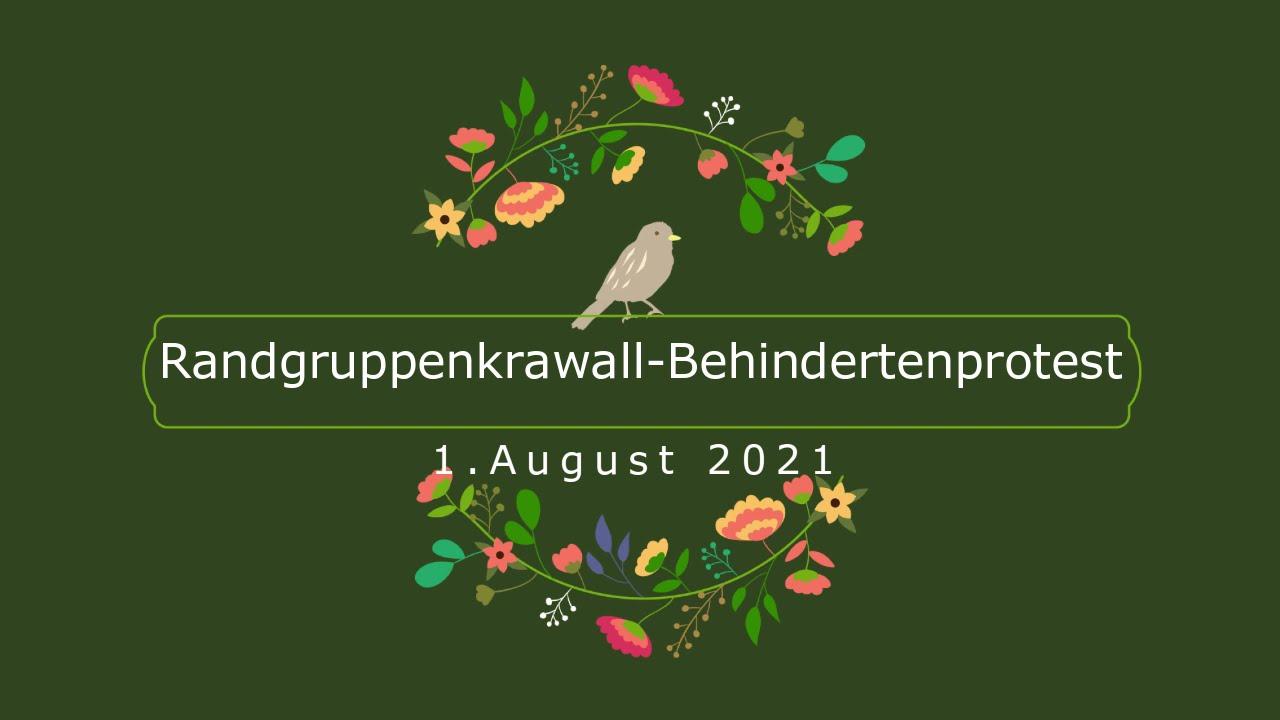 Demoaufruf für den 1. August 2021 -           Behindertenverband Bayern e. V.