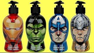 Marvel Avengers Bath Tub Time Set with Ironman , Thor &  Hulk Superheroes